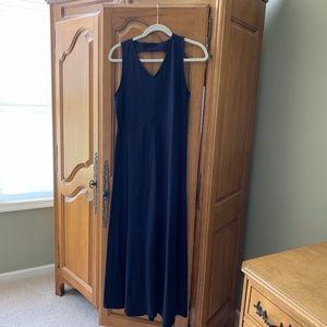 Talbot's Navy Maxi Dress Petite Medium